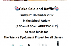 Cake Sale and Raffle - 8th December
