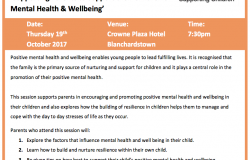 'Supporting Parents to Support their Children's Mental Health & Wellbeing'
