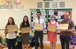 Well done to Mr O'Sullivan, Mr Moynihan, Mrs Teeling, Ms Cawley and Ms Clinch!